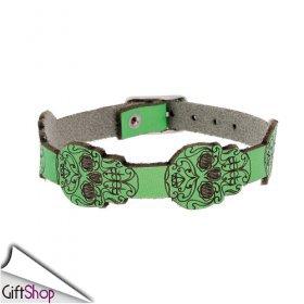 0002775_bracciale-in-pelle-teschi-verde-fluo-manuel-zed