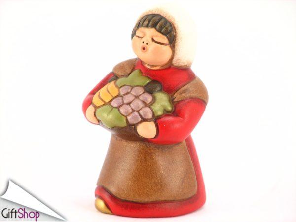 presepe rosso pastorella con cesto frutta rossa s679a82
